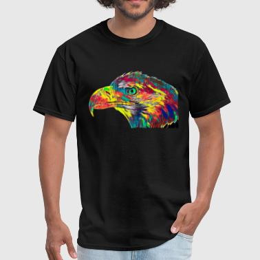 Eagle Flying King Bird USA America Pacific Colored Design - Men's T-Shirt