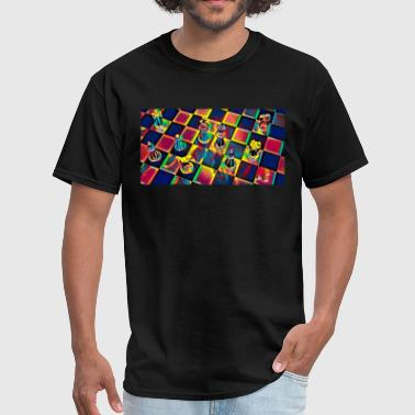 Chess Table Sport Fan Design Colored - Men's T-Shirt