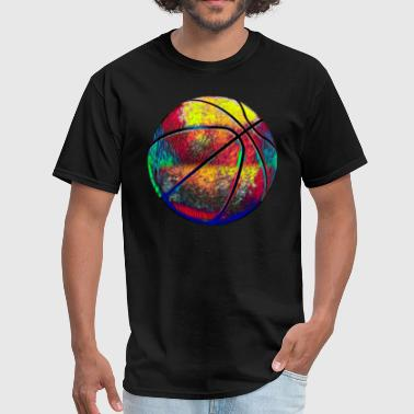 Family Team Basketball Ball Sport Fan Design Colored - Men's T-Shirt