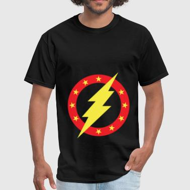 Thunderbolt Lightning Circle Stars Logo - Men's T-Shirt