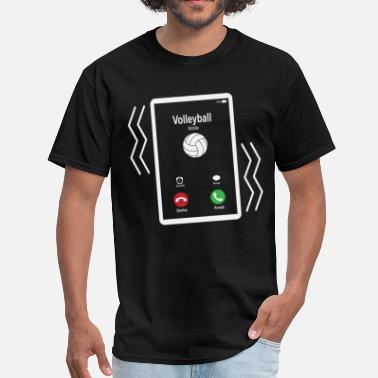 Mobile Phone Volleyball Mobile is Calling Mobile - Men's T-Shirt