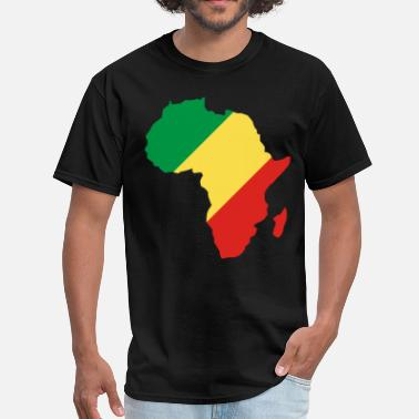 Africa Map Republic Of Congo In Africa Map - Men's T-Shirt