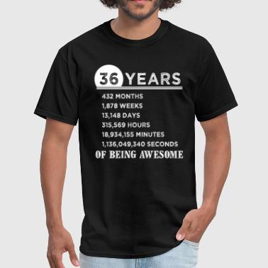 36 Years Of Being Awesome 36th Birthday Gifts 36 Years Old of Being Awesome - Men's T-Shirt