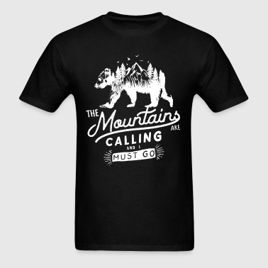 Mountains Bear Woods - Men's T-Shirt