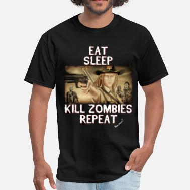 Heath Eat Sleep Kill Zombies - Men's T-Shirt