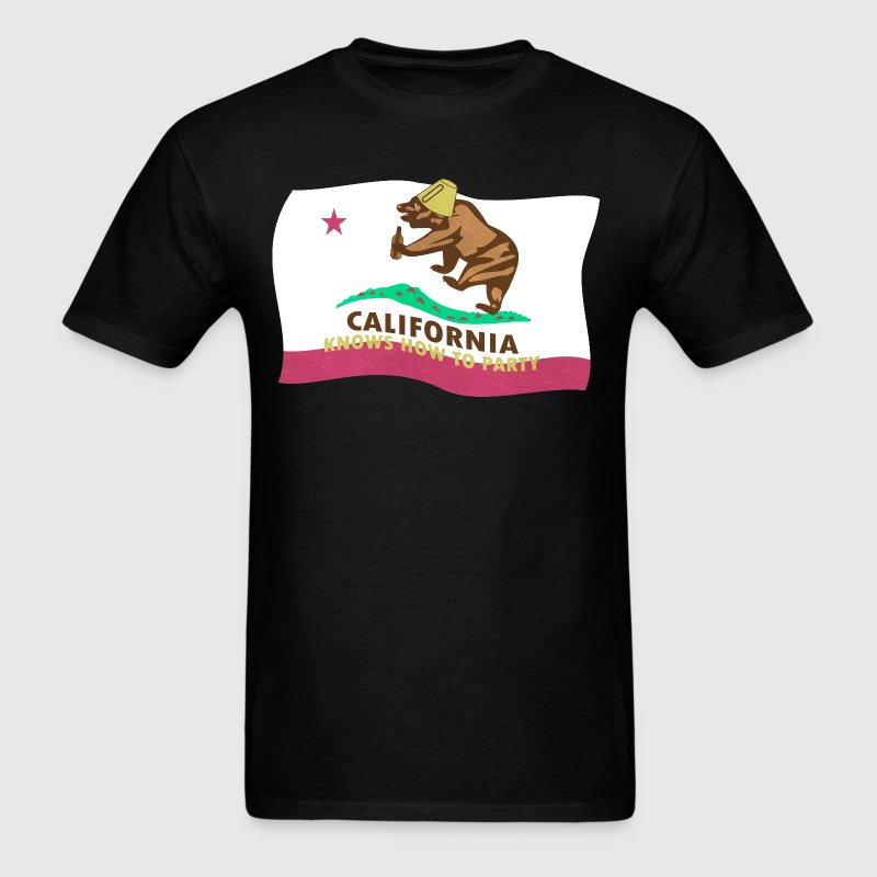 California Knows To Party - Men's T-Shirt