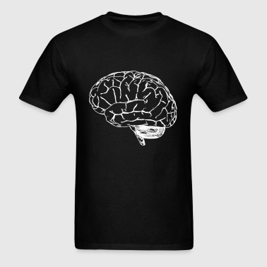 just_brain_outline - Men's T-Shirt