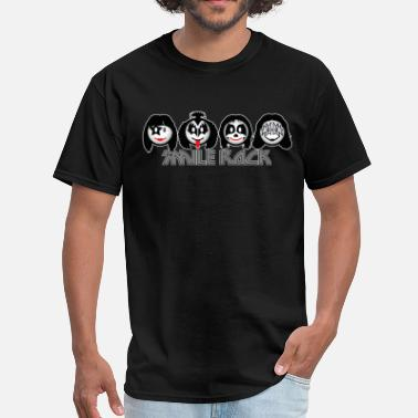 Heavy Metal Icons Smile Rock - Smiley Icons (dd dark) - Men's T-Shirt