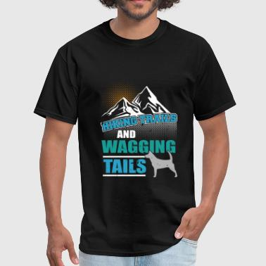 Hiking Trails and Wagging Tails - Men's T-Shirt