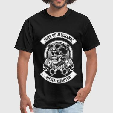 Sons of mechanic - Diesel chapter awesome t - shir - Men's T-Shirt