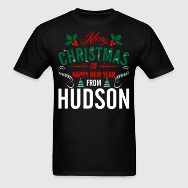 mery_christmas_happy_new_year_from_hudso - Men's T-Shirt