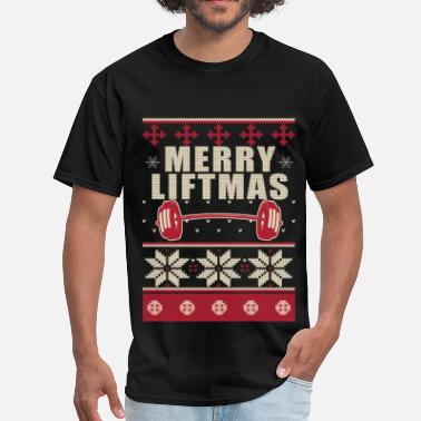 Tit Lifting Bodybuilder Ugly Christmas Sweater - Men's T-Shirt