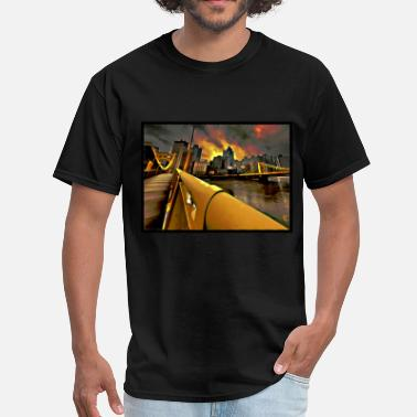 City Of Pittsburgh Pittsburgh Skyline - Men's T-Shirt