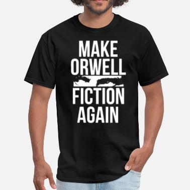 Veterans Granddaughter make orwell fiction again grandpa t shirts - Men's T-Shirt