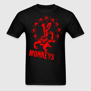 12 Monkeys Red Stencil - Men's T-Shirt