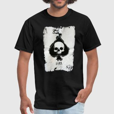 Skull Homosexual ACE OF SPADES SCREEN PRINTED COTTON POKER CARD SKU - Men's T-Shirt