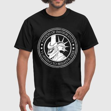 American Bully Nation of Immigrants america - Men's T-Shirt
