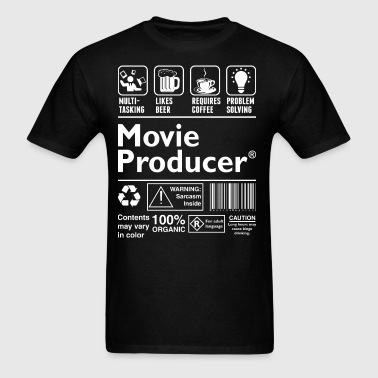Movie Producer Multitasking Beer Coffee Problem - Men's T-Shirt