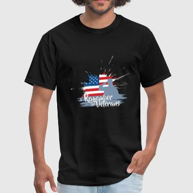 Guns Veterans Day Veterans Day - Remember the Veterans - Men's T-Shirt