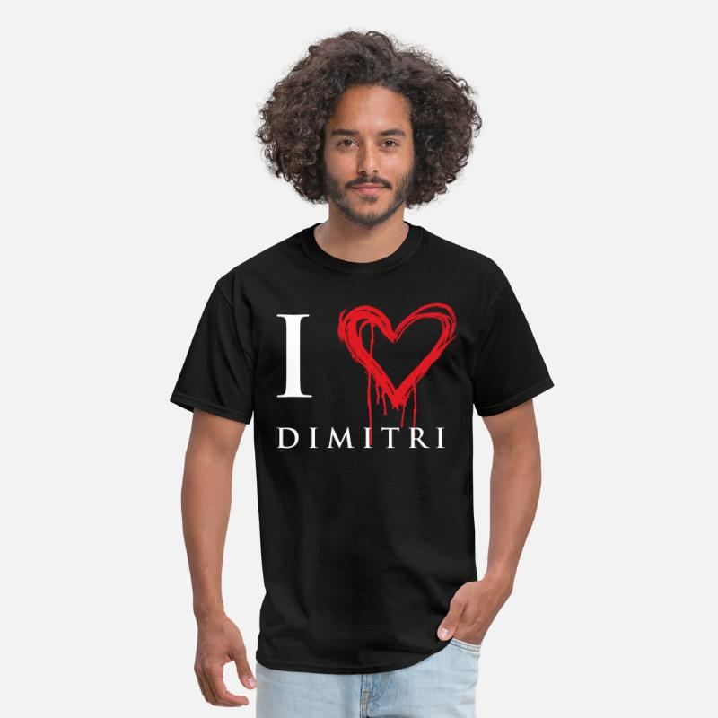 Love T-Shirts - I Love Dimitri - Vampire Academy - Men's T-Shirt black