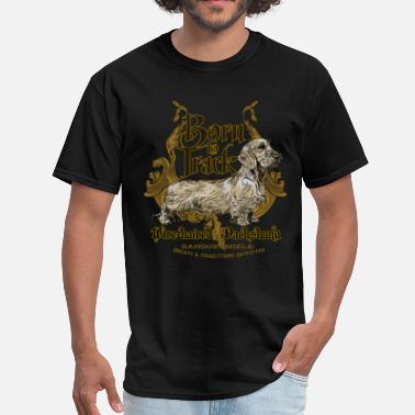 Long Haired Dachshund dachshund_born_to_track - Men's T-Shirt