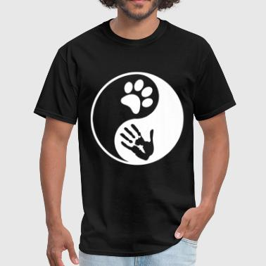 Porn Cat Lover Yin Yang Dog Cat Animal Lover Peta Love Rescue Rig - Men's T-Shirt