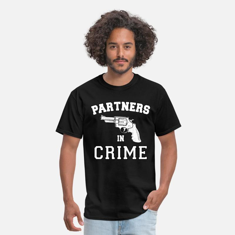 Couples T-Shirts - Partners In Crime Right - Men's T-Shirt black