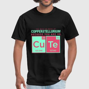 Metal Joke copper tellurium cute chemistry joke element - Men's T-Shirt