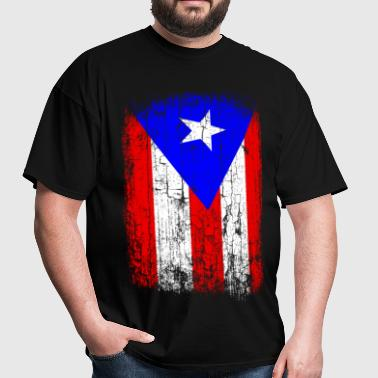 Vintage Puerto Rico Flag - Men's T-Shirt