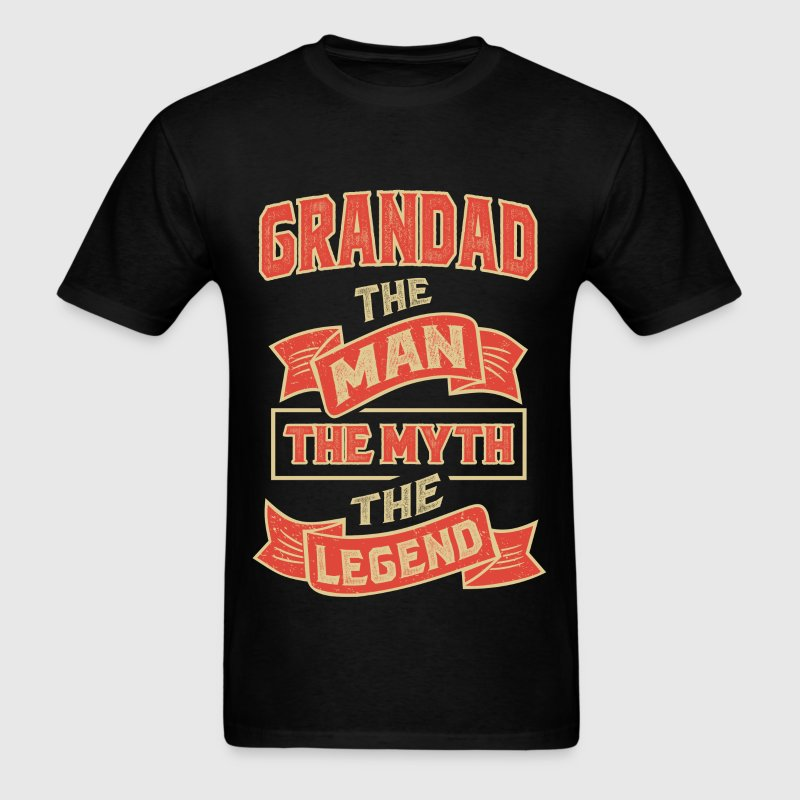 Grandad The Myth T-shirt Gifts! - Men's T-Shirt