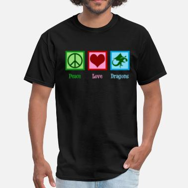 Dragon Love Peace Love Dragons - Men's T-Shirt