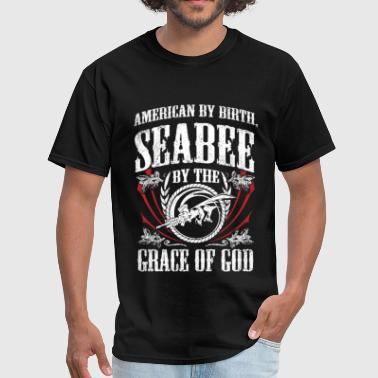 Seabee - Seabee by the grace of god - Men's T-Shirt