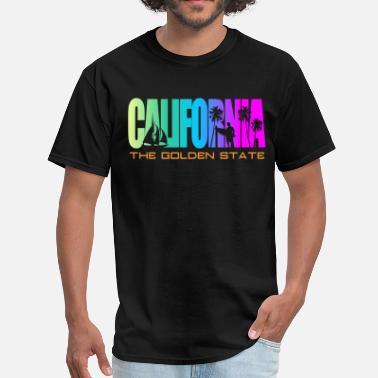 6baa943a9 California California Beach Golden State - Men's T-Shirt