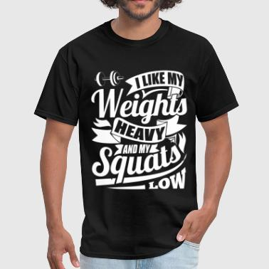 Weights Squats Gym Sports - Men's T-Shirt