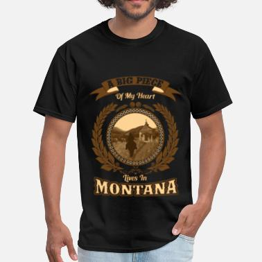 Montana Montana – A big piece of my heart - Men's T-Shirt