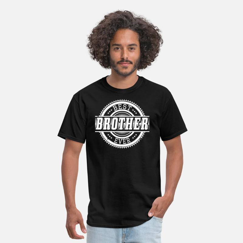 Big Brother T-Shirts - BEST BROTHER - Men's T-Shirt black