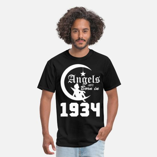 Angel T-Shirts - Angels are Born in 1934 - Men's T-Shirt black