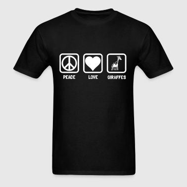 peace_love_giraffe_tshirt - Men's T-Shirt