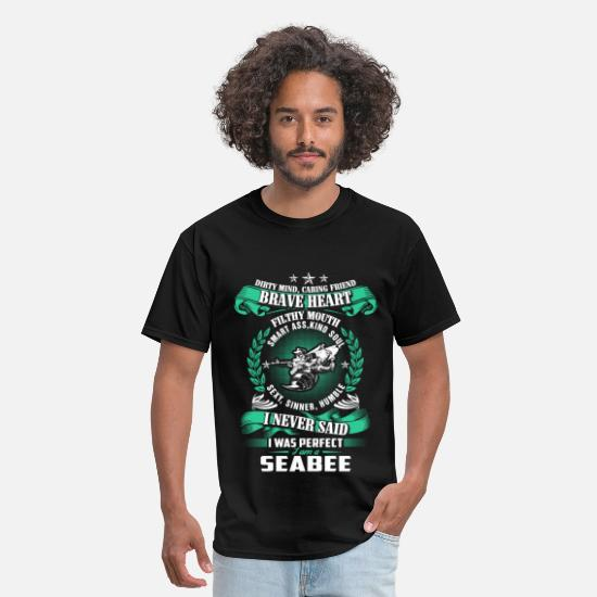 Aeroplane T-Shirts - Seabee - Dirty mind, caring friend, brave heart - Men's T-Shirt black