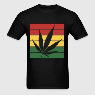weed leaf rasta flag - Men's T-Shirt