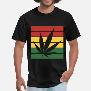 Leaf weed leaf rasta flag - Men's T-Shirt