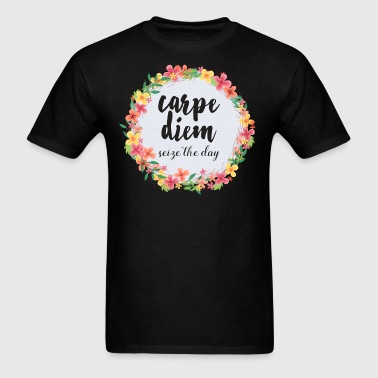 Carpe Diem Pink Quote  - Men's T-Shirt