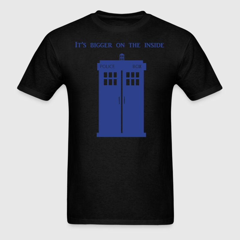 Tardis is bigger on the inside. - Men's T-Shirt