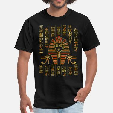 Hieroglyphics Egyptian  Sphinx on hieroglyphics red crystal  - Men's T-Shirt