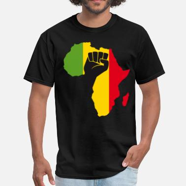 Africa Green Yellow Red African Black Power - Men's T-Shirt