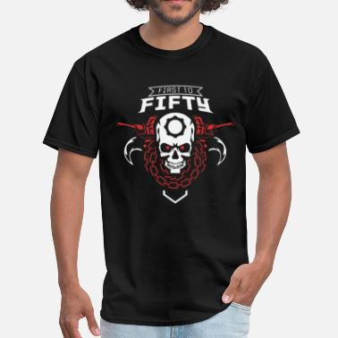 Gears First to Fifty Skulls - Men's T-Shirt