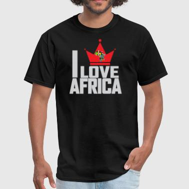I LOVE AFRICA MAP - Men's T-Shirt
