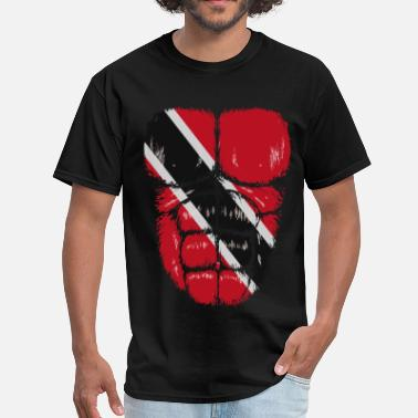 Trinidad And Tobago Trinidad and Tobago flag hulk muscles - Men's T-Shirt