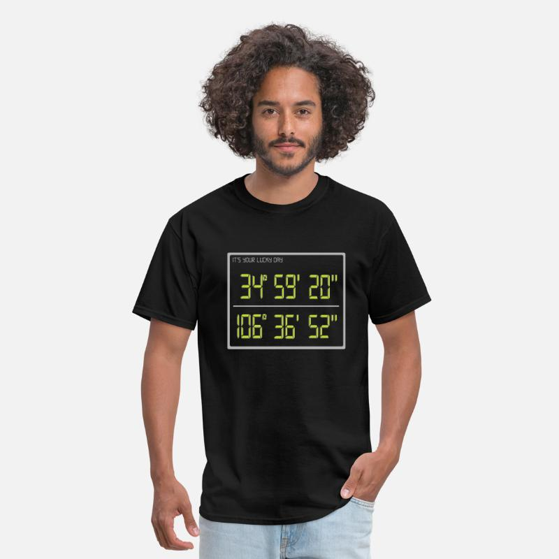 Coordinates T-Shirts - it's your lucky day - Men's T-Shirt black