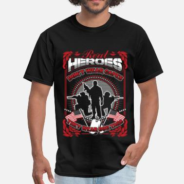 Military--big-tall Soldier - Real heroes don't wear capes but dog tag - Men's T-Shirt